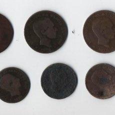 Monedas de España: INTERESANTE LOTE DE 8 MONEDAS ALFONSO XII.. Lote 90244928