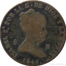 Monedas de España: ISABEL II, 1846. 8 MARAVEDIS. Lote 90459099
