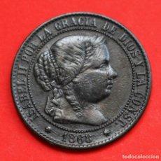 Monedas de España: 2 1/2 CENTIMOS DE ESCUDO 1868 ISABEL II SEVILLA. Lote 90463114