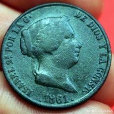 Monedas de España: 25 CENTIMOS DE REAL 1861 ISABEL II SEGOVIA. Lote 90464769