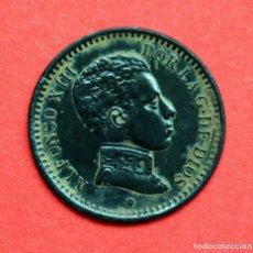 Monedas de España: 2 CENTIMOS 1904 (04*) ALFONSO XIII. PRECIOSA PATINA NEGRA. Lote 90576075
