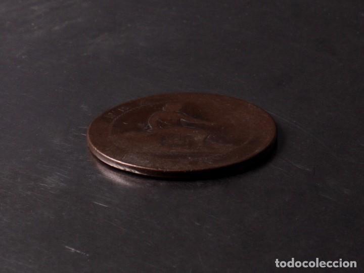 Monedas de España: 10 CÉNTIMOS MONEDA DE COBRE DIEZ GRAMOS 1870 - Foto 2 - 90992970