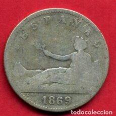 Monedas de España: MONEDA PLATA , 1 PESETA 1869 LEYENDA ESPAÑA , BC+ , ORIGINAL , A15. Lote 91739505