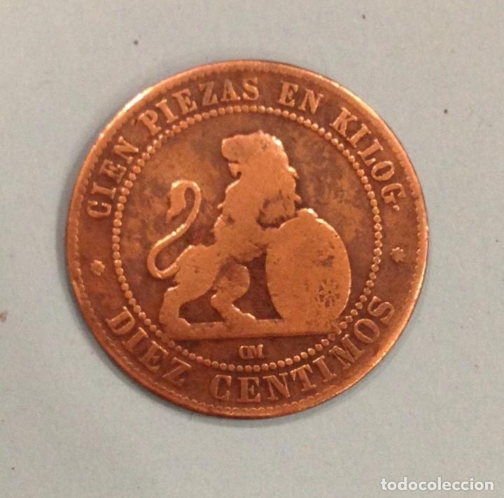 MONEDA DE DIEZ GRAMOS 1870, CIEN PIEZAS EN KILOG. (Numismática - España Modernas y Contemporáneas - De Isabel II (1.834) a Alfonso XIII (1.931))