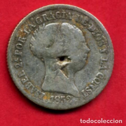 MONEDA PLATA , ISABEL II , 2 REALES 1852 MADRID , MBC-- , ORIGINAL , A16 (Numismática - España Modernas y Contemporáneas - De Isabel II (1.834) a Alfonso XIII (1.931))