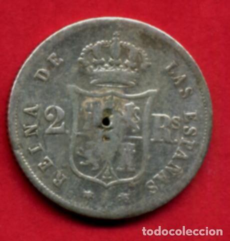 Monedas de España: MONEDA PLATA , ISABEL II , 2 REALES 1852 MADRID , MBC-- , ORIGINAL , A16 - Foto 2 - 91832360