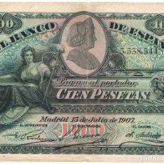 Monedas de España: 100 PTAS. 15-JULIO-1907-SIN SERIE. Lote 91845730
