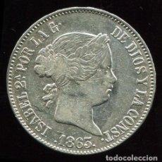 Monedas de España: 10 REALES DE PLATA - ISABEL II - 1863 MADRID. Lote 203564300