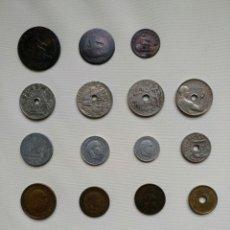 Monedas de España: LOTE DE 19 MONEDAS ESPAÑOLAS DESDE 1870. Lote 92045109