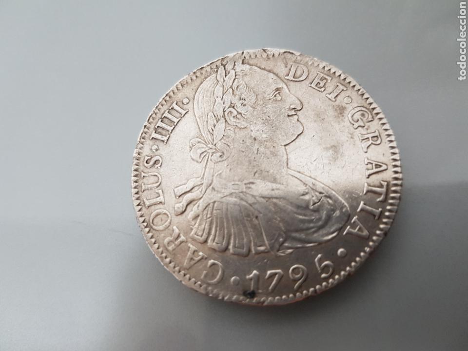 Moneda 8 Reales 1795 Fm Mexico Carlos Iv Plat Comprar Monedas De