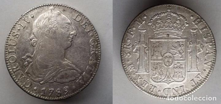 Spain Coin Carolus Iiii Carlos Iv 8 Reales 1789 Comprar Monedas De