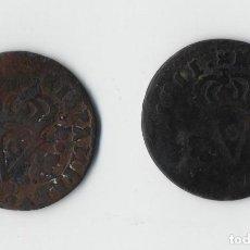 Monedas de España: 2 MONEDAS FELIPE V, SEISENO DE 1711, VALENCIA. 1 DESPLAZADA.. Lote 92919255