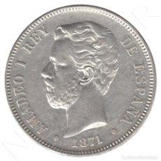 Monedas de España: ESPAÑA 5 PESETAS PLATA 1871 AMADEO I DE SABOYA *18 *75* DURO PLATA 1875. Lote 93141725