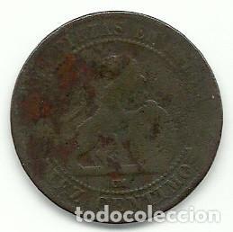 Monedas de España: GOBIERNO PROVISIONAL - 10 CENTIMOS 1870 - Foto 2 - 93806380
