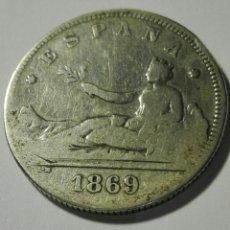 Monedas de España: ESPAÑA 2 PESETAS GOBIERNO PROVISIONAL 1869 SN M. PLATA. Lote 94272895