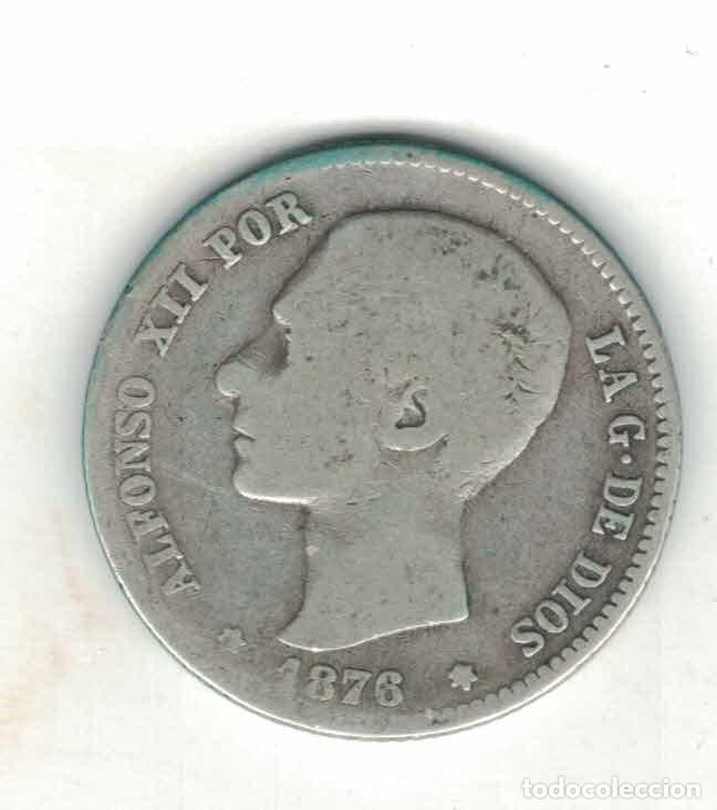 ALFONSO XII 1 PTAS 1876 M58 RR (Numismática - España Modernas y Contemporáneas - De Isabel II (1.834) a Alfonso XIII (1.931))