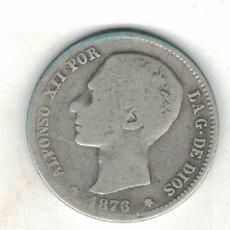 Monedas de España: ALFONSO XII 1 PTAS 1876 M58 RR. Lote 94674491