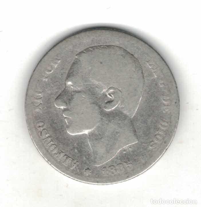 ALFONSO XII 1 PTAS 1885 M59 (Numismática - España Modernas y Contemporáneas - De Isabel II (1.834) a Alfonso XIII (1.931))