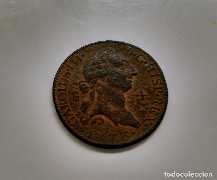 MONEDA 4 MARAVEDIS CARLOS III 1773 (Numismática - España Modernas y Contemporáneas - De Reyes Católicos (1.474) a Fernando VII (1.833))