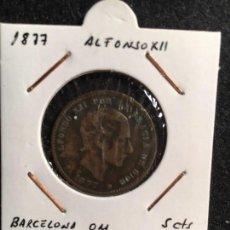 Monedas de España: 5 CTS ALFONSO XII 1877 BARCELONA OM. Lote 95876015