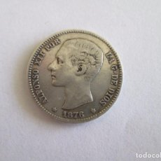 Monedas de España: ALFONSO XII * 1 PESETA 1876* DE M * PLATA. Lote 95090899