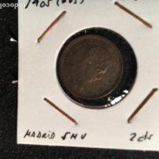 Monedas de España: 2 CTS ALFONSO XIII 1905 * 05 MADRID SMV. Lote 95108335