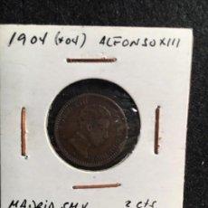 Monedas de España: 2 CTS 1904 * 04 ALFONSO XIII MADRID SMV. Lote 95108511