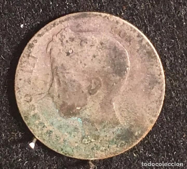 1 PTA ALFONSO XIII -FALSA DE EPOCA- CURIOSIDAD ¡¡¡¡¡ (Numismática - España Modernas y Contemporáneas - De Isabel II (1.834) a Alfonso XIII (1.931))