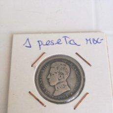 Monedas de España: EDUNAVA 1 PESETA 1903*19*03 SM-V PLATA BONITA MBC- ALFONSO XIII. RARA . Lote 95433915