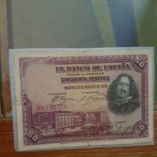 Monedas de España: BILLETE 50 PESETAS 1928. Lote 95885228
