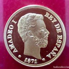 Monedas de España: MONEDA EN ORO , REY AMADEO I 1871 100 PTS NUEVA. Lote 95899135