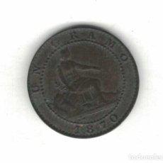 Monedas de España: I REPÚBLICA 1 CENTIMOS 1870 M85. Lote 115621791
