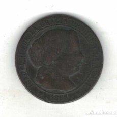 Monedas de España: ISABEL II. UN CENTIMO DE ESCUDO SEVILLA 1868 M87. Lote 96263295