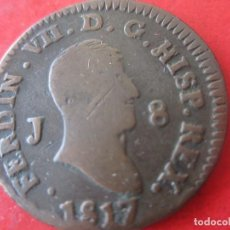 Monedas de España: FERNANDO VII. 8 MARAVEDIES DE 1817. JUBIA . Lote 96675435