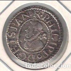Monedas de España - MONEDA DE FELIPE III DE MEDIO (1/2) CROAT ACUÑADA EN BARCELONA EN 1612. MBC+ CATA. CALICÓ-535. F3-42 - 97212767