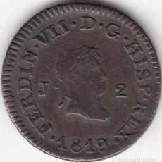Monedas de España: FERNANDO VII: 2 MARAVEDIS 1819 JUBIA. Lote 97293491