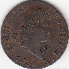 Monedas de España: FERNANDO VII: 4 MARAVEDIS 1828 SEGOVIA. Lote 97579947