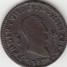 Monedas de España: FERNANDO VII: 8 MARAVEDIS 1816 JUBIA . Lote 97581103