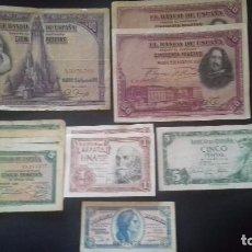 Monedas de España: LOTE DE BILLETES ANTIGUOS. Lote 97785287