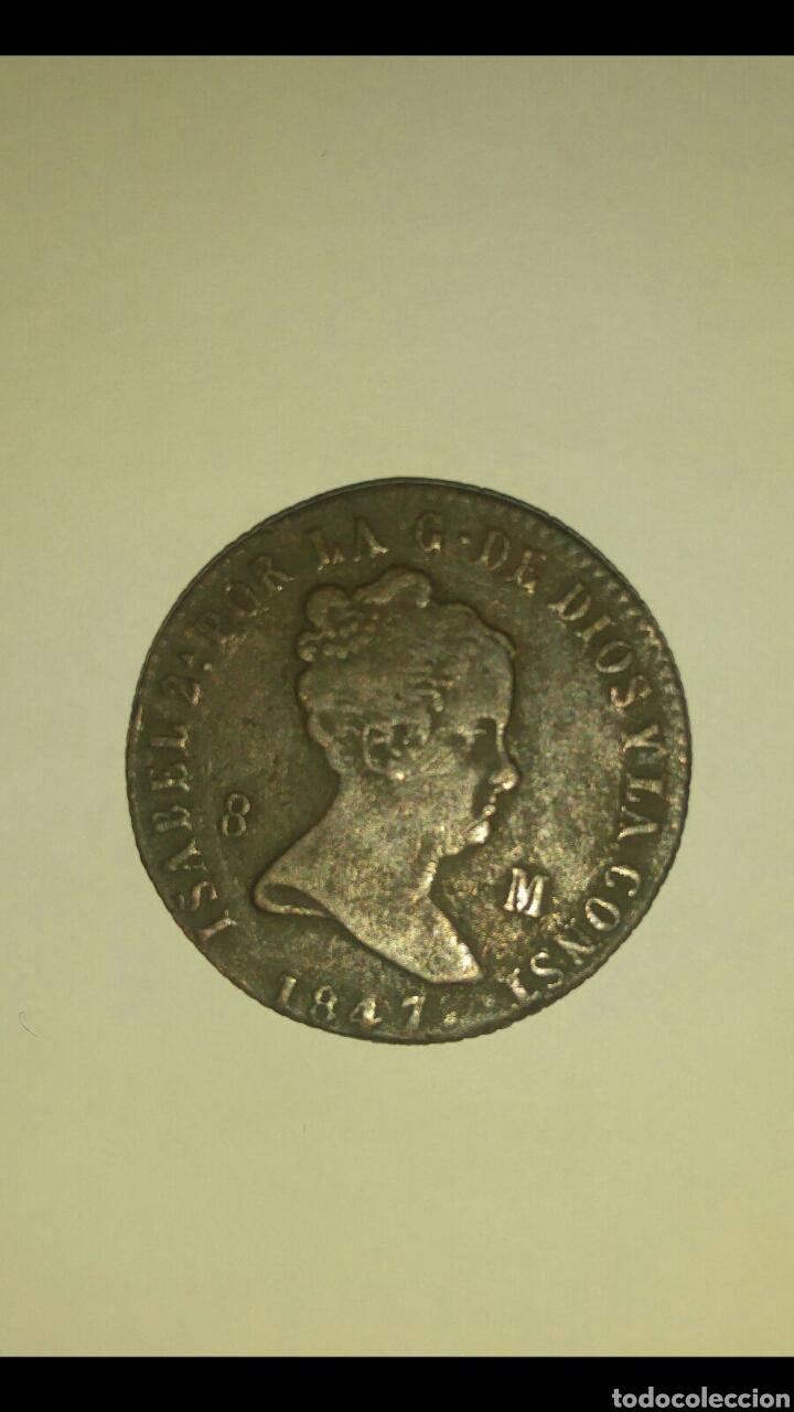 Monedas de España: 8 Maravedís 1847 Isabel II Muy bonita - Foto 2 - 97797216