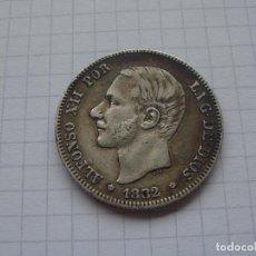 Monedas de España: ESPAÑA 1882 (*18-82) MSM - 2 PESETAS PLATA - ALFONSO XII - PÁTINA. PARTE DE BRILLO NATURAL. Lote 97805031