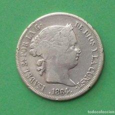 Monedas de España: ISABEL II. MONEDA DE 4 REALES. 1864. MADRID. PLATA.. Lote 97932999