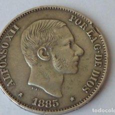 Monedas de España: MONEDA DE PLATA DE 50 CENTIMOS DE PESO DE FILIPINAS DE 1885 ALFONSO XII, PESA 12,7 GRAMOS. Lote 99094639