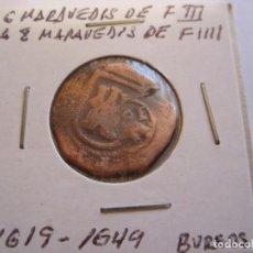 Monedas de España: MONEDA DE 4 MARAVEDIES DE FELIPE III 1619 RESELLADO PARA 8 M. DE FELIPE IV 1649 (BURGOS). Lote 99111711