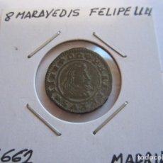 Monedas de España: MONEDA DE 8 MARAVEDIES DE FELIPE IV 1662 (MADRID) MUY BONITO RARO ASI. Lote 99191135
