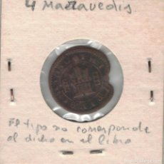 Monedas de España: FELIPE III CUATRO MARAVEDÍS SEGOVIA 1618 M146. Lote 99679651