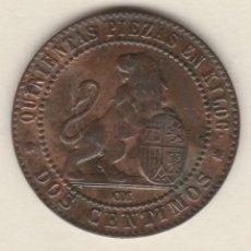 Monedas de España: GOBIERNO PROVISIONAL- 2 CENTIMOS- 1870-SC. Lote 99830575