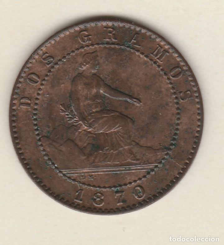 Monedas de España: GOBIERNO PROVISIONAL- 2 CENTIMOS- 1870-SC - Foto 2 - 99830575