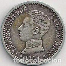 Monedas de España: ESPAÑA - ALFONSO XIII - 50 CÉNTIMOS PLATA 1904 *0-4. Lote 99832515