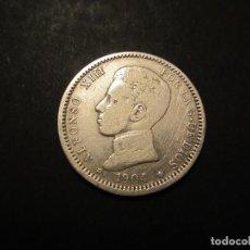 Monedas de España: MONEDA DE 1 PESETA DE 1904*19-04 DE ALFONSO XIII. Lote 99908191